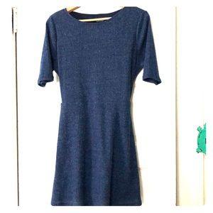 Lulus navy sweater dress